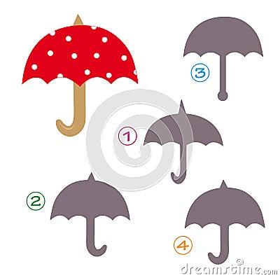 Free Shape Game - The Umbrella Royalty Free Stock Photo - 16939795