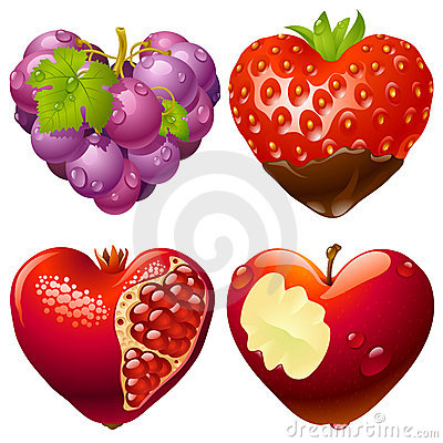 Free Shape Of Heart Set 2 Royalty Free Stock Image - 17991726
