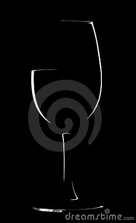 Shape of wineglass