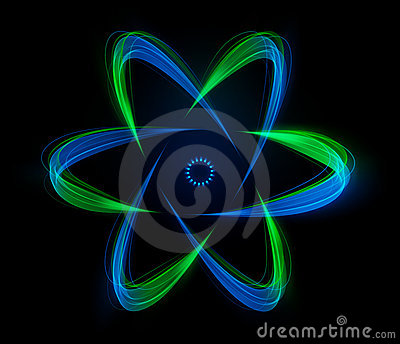 Shaped streaks of light - atomic energy