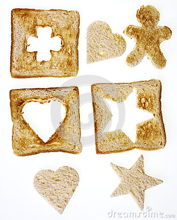 Shapes from bread
