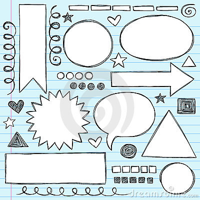 Shapes Frames Sketchy Doodle Vector Set