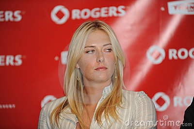 Sharapova Maria at Rogers Cup 2009 (18) Editorial Photography