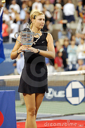 Sharapova Maria USOPEN Cup 133 Editorial Photo