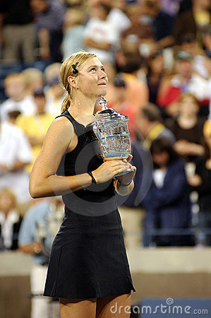 Sharapova Maria USOPEN Cup 146 Editorial Stock Photo