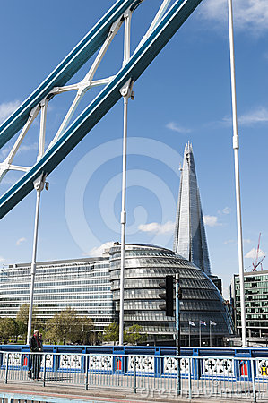 The Shard, framed by London Bridge Editorial Image