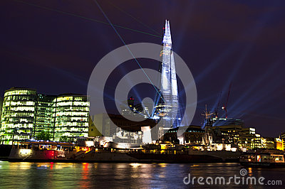 Shard Laser Light Show in London