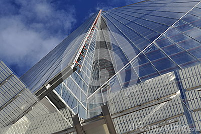 The Shard, London, Britain. Vertical perspective.