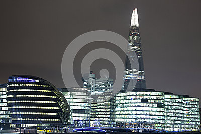 The Shard in London at Night 003