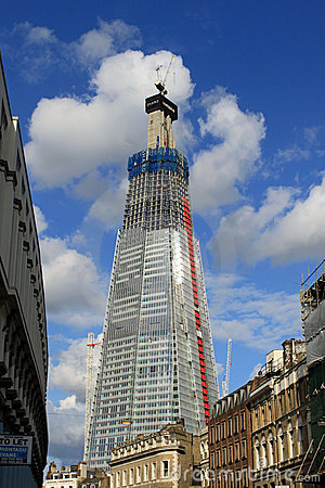 The Shard, London - skyscraper under construction Editorial Stock Image
