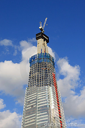 The Shard, London - skyscraper under construction. Editorial Photo