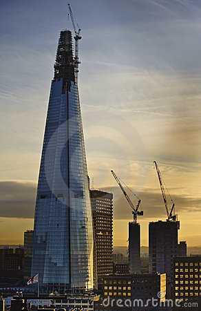 The Shard in London undergoing construction