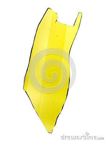 Free Shard Of Glass Wine Bottle Green Isolated On White Background Stock Image - 62847611