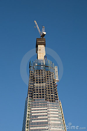The Shard under construction Editorial Image