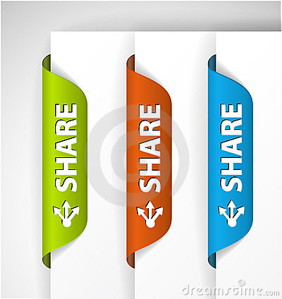 Share Labels / Stickers on the edge of the page