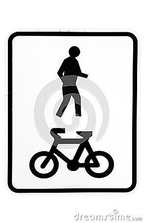 Shared walkway sign