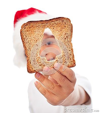 Sharing food at christmas time