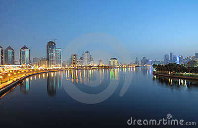 Sharjah City at night