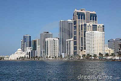 Sharjah City skyline