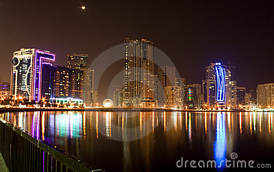 Sharjah at night