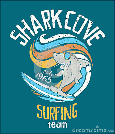 Free Shark Cove Surfing Team Stock Image - 83331291