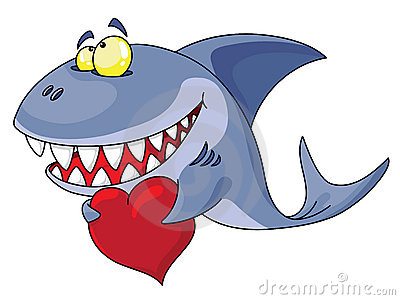 Shark and heart