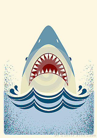 Free Shark Jaws.Vector Color Illustration Royalty Free Stock Image - 45288546