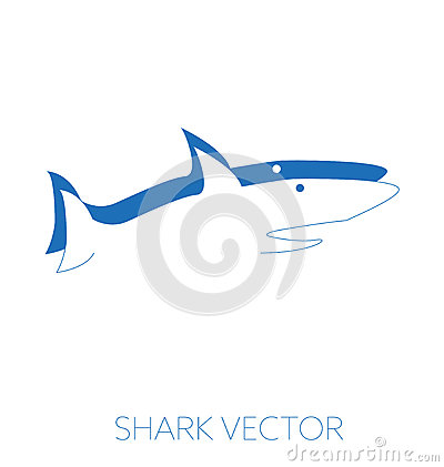 Shark minimal vector illustration Vector Illustration