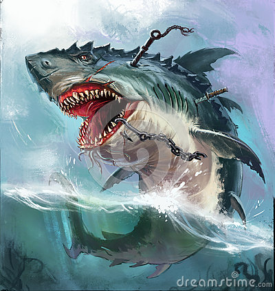 Free Shark Monster Royalty Free Stock Photos - 73507438