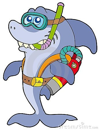 Free Shark Scuba Diver Royalty Free Stock Photo - 9190005