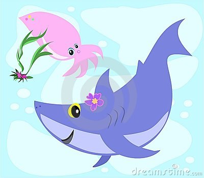 Shark and Squid Swim