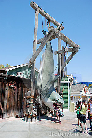 Shark tied up in Universal Studios Editorial Stock Photo