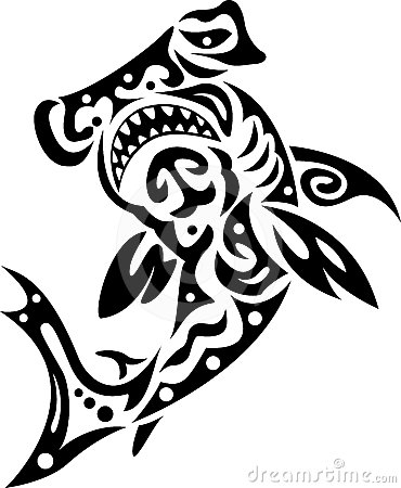 Shark in tribal