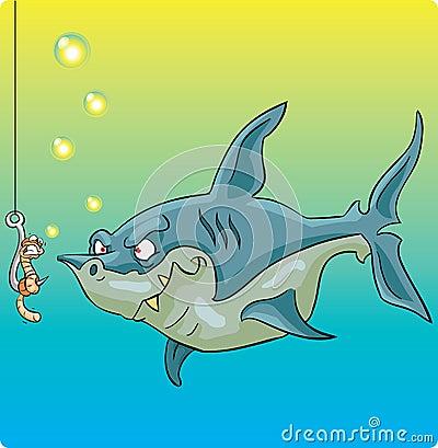 Shark vs worm