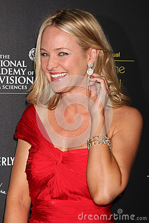 Sharon Case arrives at the 2012 Daytime Emmy Awards Editorial Image