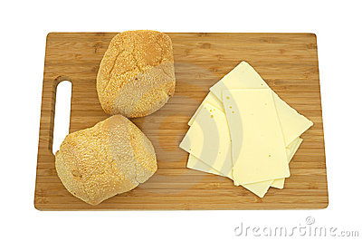 Sharp cheddar cheese with rolls
