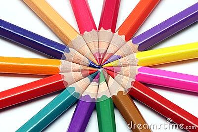 Sharp colour pencils