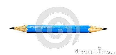 Sharp dark blue pencil