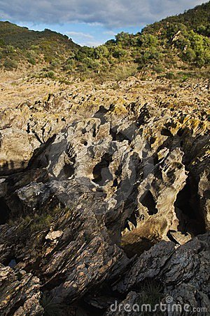 Sharp edge rocks