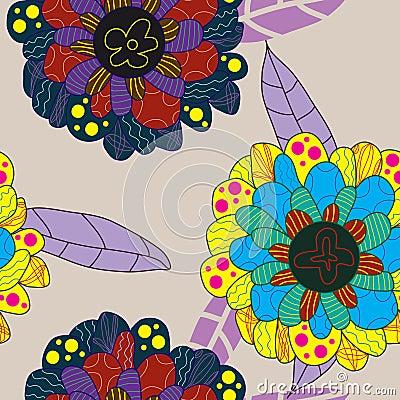 Sharp Flower Group Seamless Pattern_eps