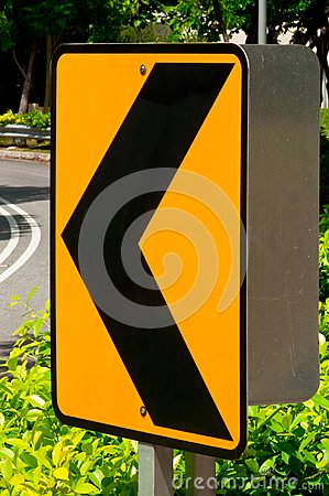 Sharp Left Turn Traffic Sign