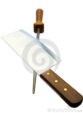 Sharp meat cleaver with poker