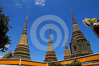 Sharp pagoda and sky