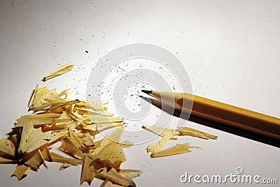 Sharp pencil and shavings