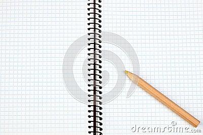 Sharp pencil on a spiral notebook