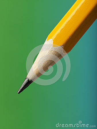 Sharp pencil tip