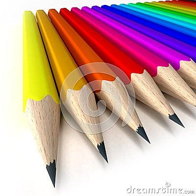 Sharp pencil tips