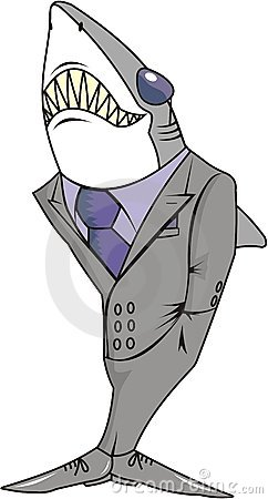 Sharp shark in a suit