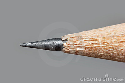Sharp tip of a pencil