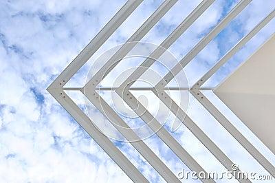Sharp white sunshade